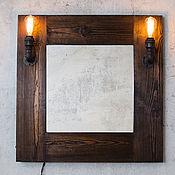 Для дома и интерьера ручной работы. Ярмарка Мастеров - ручная работа Зеркало с подсветкой в стиле Loft/Indastrial. Handmade.