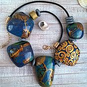 Украшения handmade. Livemaster - original item Necklace polymer clay Mystery of the seas. Handmade.