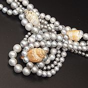 Материалы для творчества handmade. Livemaster - original item Natural grey pearl beads AAA grade. Handmade.