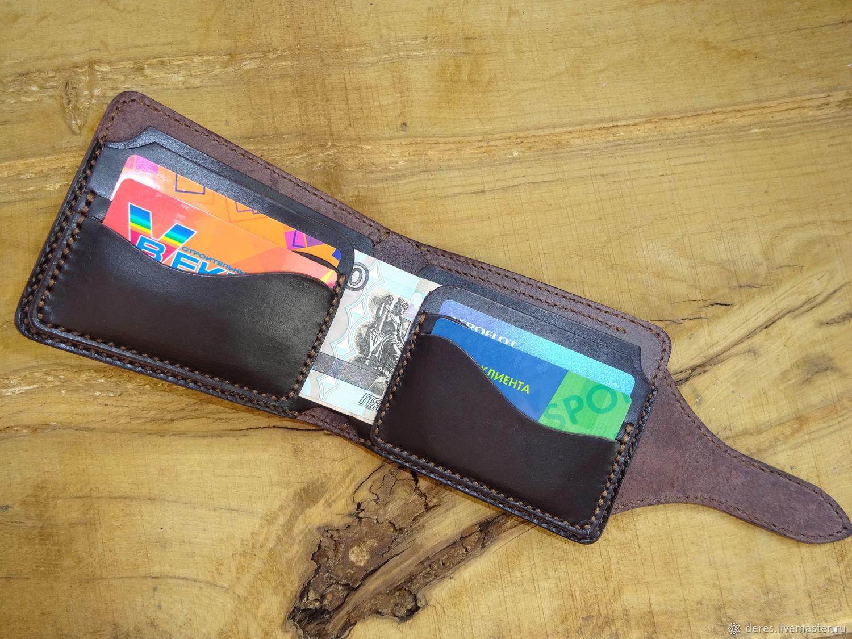 925ba85c53a4 Купить Мужской кожаный кошелёк · Кошельки и визитницы ручной работы. Мужской  кожаный кошелёк. ДЕРЕС (Валентин).
