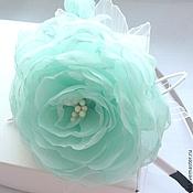 Украшения handmade. Livemaster - original item Rim with flowers from tissue