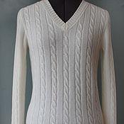 Одежда ручной работы. Ярмарка Мастеров - ручная работа Джемпер из кашемира белый. Handmade.