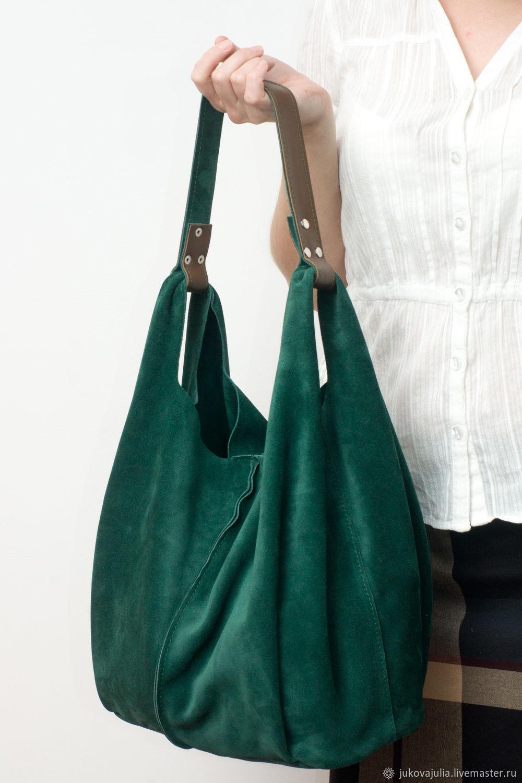 Bag: Emerald bag, genuine leather, natural split, Sacks, Stavropol,  Фото №1