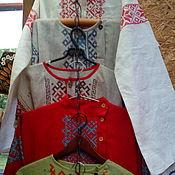 Русский стиль ручной работы. Ярмарка Мастеров - ручная работа рубашки мужские с обережной вышивкой. Handmade.