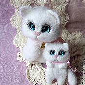 Куклы и игрушки handmade. Livemaster - original item cat blue-eyed white baby. Handmade.