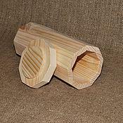Материалы для творчества ручной работы. Ярмарка Мастеров - ручная работа Короб 9-ти гранный из сосны. Handmade.