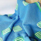Для дома и интерьера ручной работы. Ярмарка Мастеров - ручная работа Тёплый детский плед-вязаное одеяло для мальчика Квадратики-полосатики. Handmade.