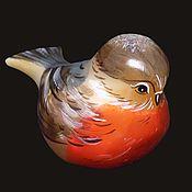Для дома и интерьера ручной работы. Ярмарка Мастеров - ручная работа Птица Снегирь - фигурка из камня Селенит. Handmade.