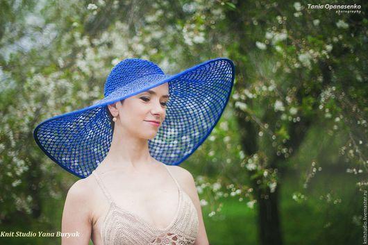 Шляпы ручной работы. Ярмарка Мастеров - ручная работа. Купить Шляпа JOURNEY в синем цвете. Handmade. Шляпа с полями