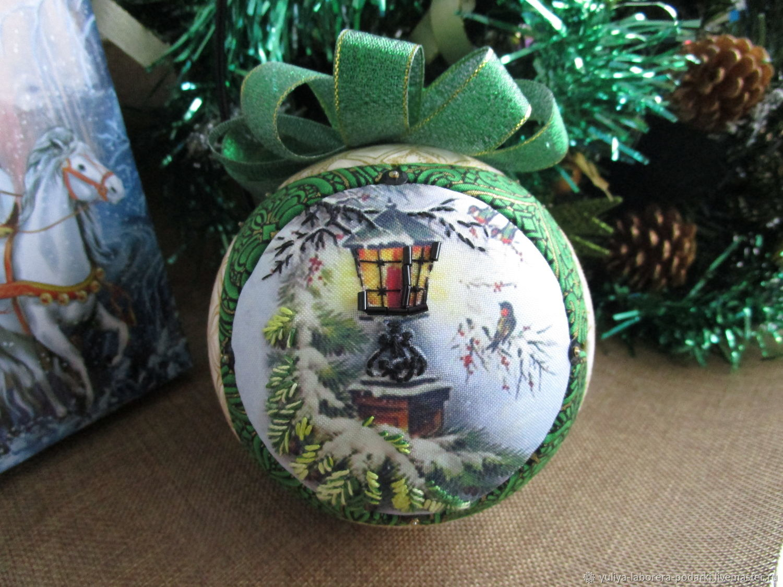 Christmas ball 'Christmas flashlight' (collectible), Christmas decorations, Nizhny Novgorod,  Фото №1