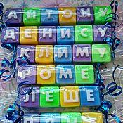 Косметика ручной работы. Ярмарка Мастеров - ручная работа Мыло ручной работы буквы и цифры. Handmade.