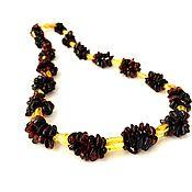 Работы для детей, handmade. Livemaster - original item Natural amber beads