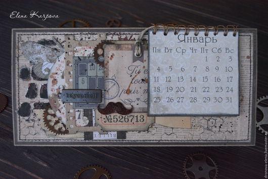 Подарки для мужчин, ручной работы. Ярмарка Мастеров - ручная работа. Купить Мужской календарь. Handmade. Коричневый, календарь, календарь 2016
