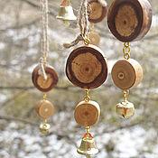 Подарки к праздникам ручной работы. Ярмарка Мастеров - ручная работа Набор украшений из дерева - 2. Handmade.
