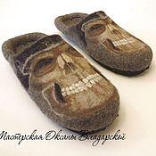 Обувь ручной работы handmade. Livemaster - original item Men`s felt Slippers