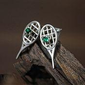 Украшения handmade. Livemaster - original item Tennis racket earrings. Handmade.