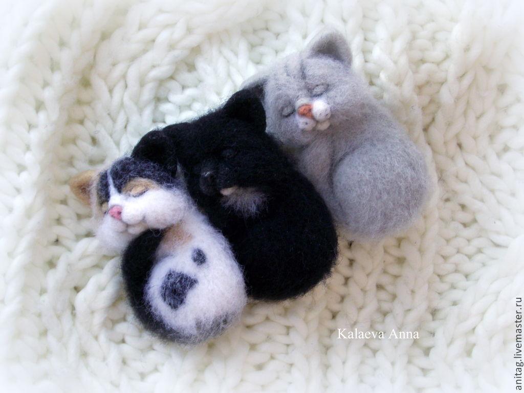 Спящие котята (брошь,броши), Брошь-булавка, Ижевск,  Фото №1