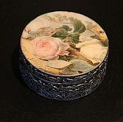 Для дома и интерьера handmade. Livemaster - original item Round box for jewelry. Handmade.