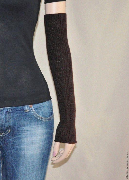 Варежки, митенки, перчатки ручной работы. Ярмарка Мастеров - ручная работа. Купить Рукава Naomi (полушерсть, stretch). Handmade.