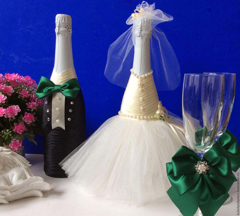 Как украшать шампанское своими руками