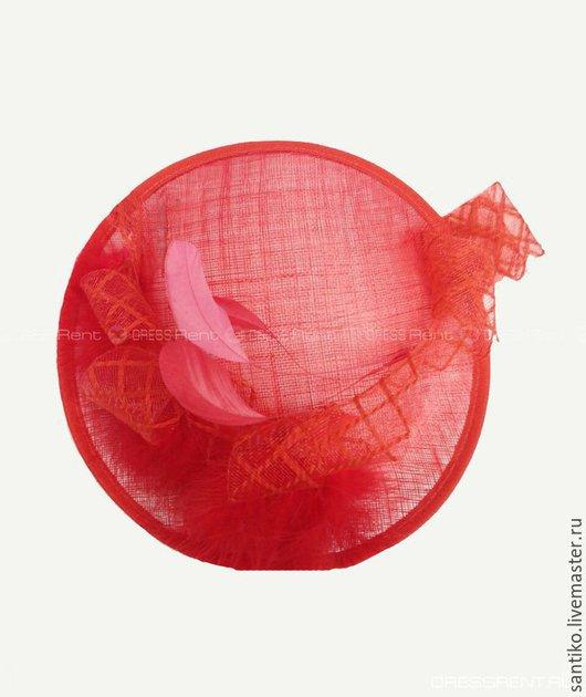 """Шляпы ручной работы. Ярмарка Мастеров - ручная работа. Купить Шляпа вуалетка """"Сью"""". Handmade. Ярко-красный, аксессуары"""