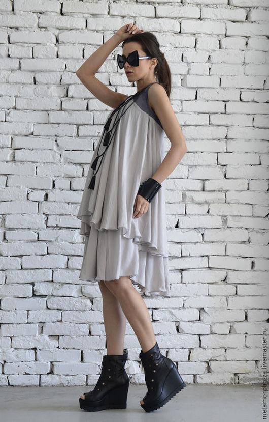 Платья ручной работы. Ярмарка Мастеров - ручная работа. Купить Серое платье, платье летнее. Handmade. Серый, Платье нарядное
