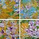 """Картины цветов ручной работы. Заказать """"Summer bloom"""" 100х70 см большая картина маслом мастихином. SLEEPWALKERS. Ярмарка Мастеров."""