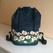 "Сумки и аксессуары handmade. Livemaster - original item Denim handbag ""Daisies"". Handmade."