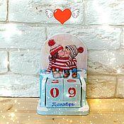 Канцелярские товары handmade. Livemaster - original item Perpetual calendar Love couple. Handmade.