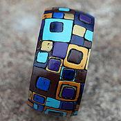 Украшения ручной работы. Ярмарка Мастеров - ручная работа браслет из полимерной глины строгий. Handmade.