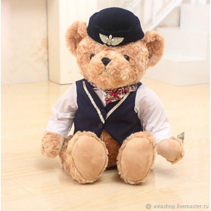 Мишка-стюардесса (синяя), Мягкие игрушки, Москва,  Фото №1