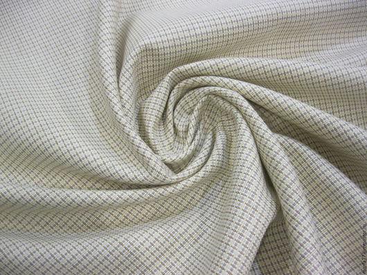 Шитье ручной работы. Ярмарка Мастеров - ручная работа. Купить Итальянский костюмный лен.. Handmade. Бежевый, натуральный лен, льняной
