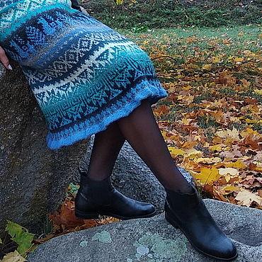 Одежда ручной работы. Ярмарка Мастеров - ручная работа Юбка-перуанка Аква. Handmade.
