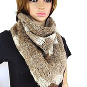 Аксессуары handmade. Livemaster - original item Light warm knitted scarf (bactus) from Alpaca. Handmade.