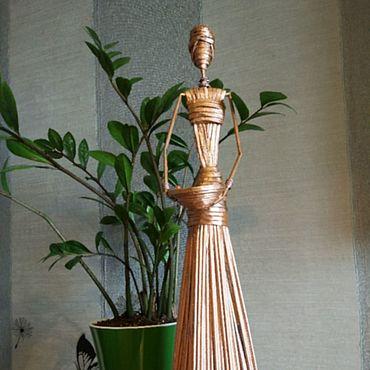 Для дома и интерьера ручной работы. Ярмарка Мастеров - ручная работа Статуэтки: Африканка Зина и её корзина. Handmade.