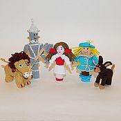 Кукольный театр ручной работы. Ярмарка Мастеров - ручная работа Волшебник Изумрудного города пальчиковый театр. Handmade.