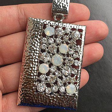 Materials for creativity handmade. Livemaster - original item Crooked pendant pendant art. 7-47A with crystals. Italy. Handmade.