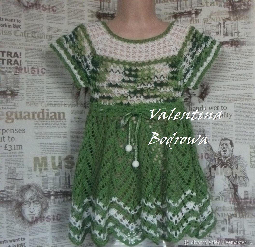 Платье вязанное крючком для девочки, Платья, Татарск,  Фото №1