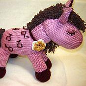 Куклы и игрушки ручной работы. Ярмарка Мастеров - ручная работа Розовая лошадка, игрушка связанная спицами. Handmade.