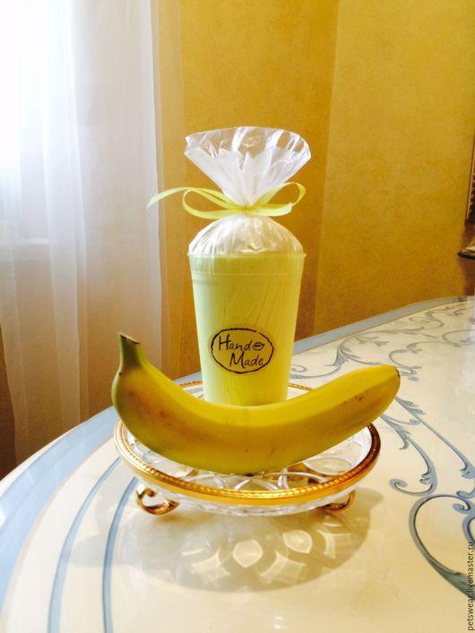 """Пена, молочко для ванны ручной работы. Ярмарка Мастеров - ручная работа. Купить Молоко для ванны""""Сливочный банан"""". Handmade. Лимонный"""