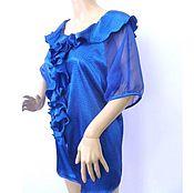 Одежда handmade. Livemaster - original item Blouse Rezida L / Italian silk. Handmade.