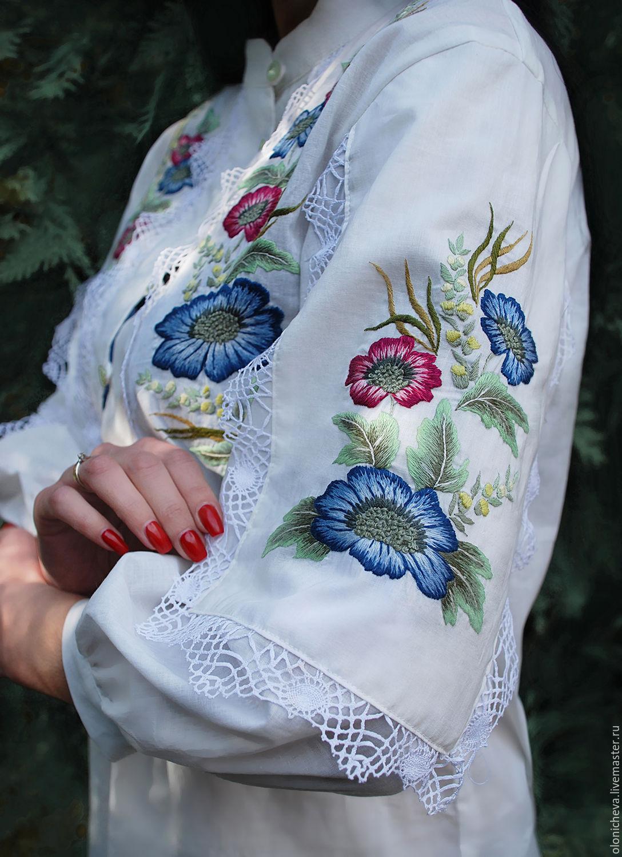 """Вышитая блуза из батиста """"Утренняя прохлада"""" блуза с ручной вышивкой, Блузки, Винница,  Фото №1"""