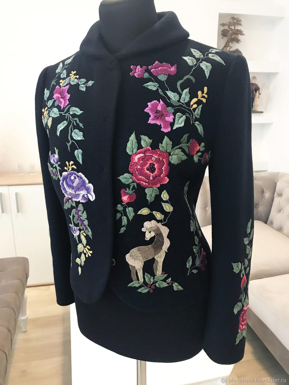 """Нарядный пиджак с ручной вышивкой """"Лошадка"""" вышитый пиджак, Suit Jackets, Vinnitsa,  Фото №1"""