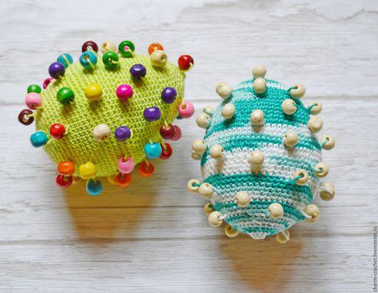 Развивающие игрушки ручной работы. Ярмарка Мастеров - ручная работа. Купить Тактильная игрушка. Handmade. Тактильная игрушка, яйца тактильные