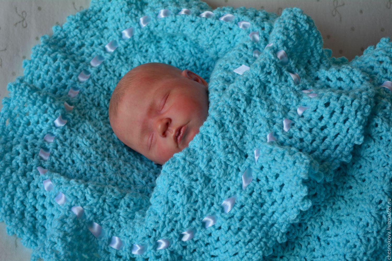 Плед для новорожденного спицами: схема и подробное описание вязания для