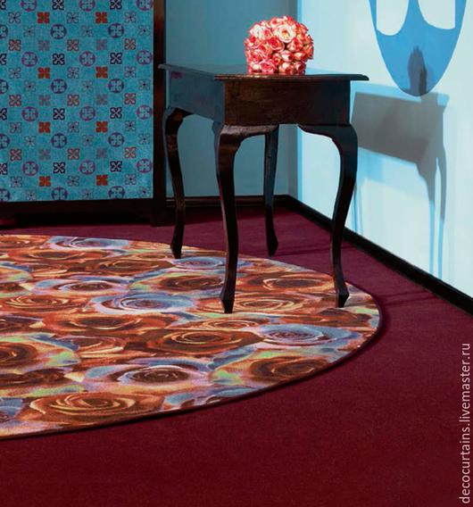 Текстиль, ковры ручной работы. Ярмарка Мастеров - ручная работа. Купить Флокированный ковер с любым изображением. Handmade. Кремовый