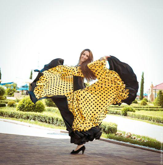 """Танцевальные костюмы ручной работы. Ярмарка Мастеров - ручная работа. Купить Цыганский костюм """"Алисия"""". Handmade. Желтый, костюм цыганки"""
