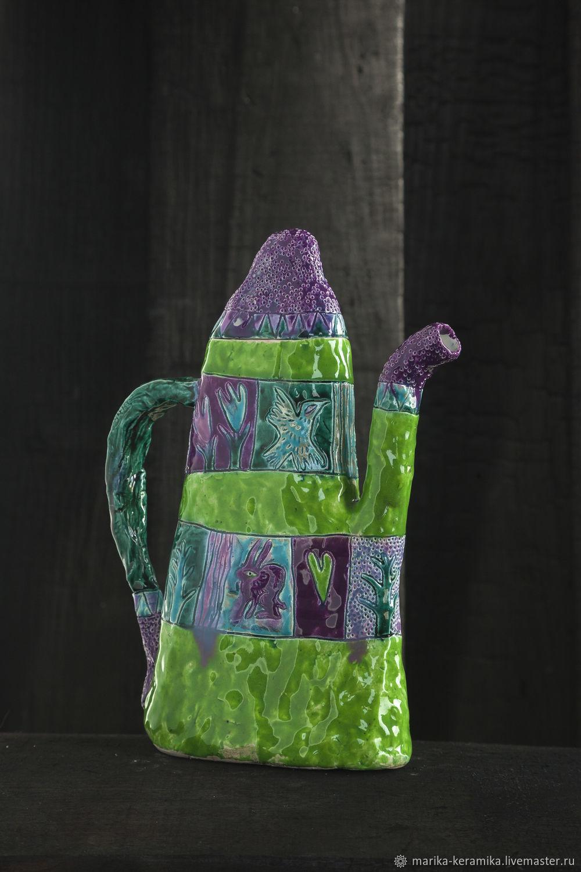 Чайник-кувшин Прекрасный зелёный, Чайники, Псков,  Фото №1