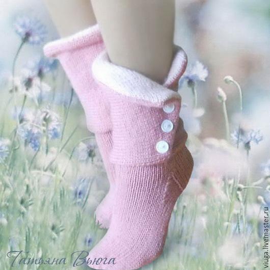 Носки шерстяные, вязаные носки, обувь для дома, домашняя обувь, сапожки вязанные, гетры высокие длинные, носки в подарок, носки мужские, женские, носки, зимние, под зимнюю обувь, подарок на Новый год