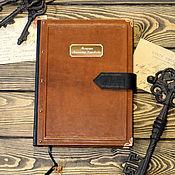 Канцелярские товары ручной работы. Ярмарка Мастеров - ручная работа Блокнот для записи мемуаров в кожаном переплете. Handmade.